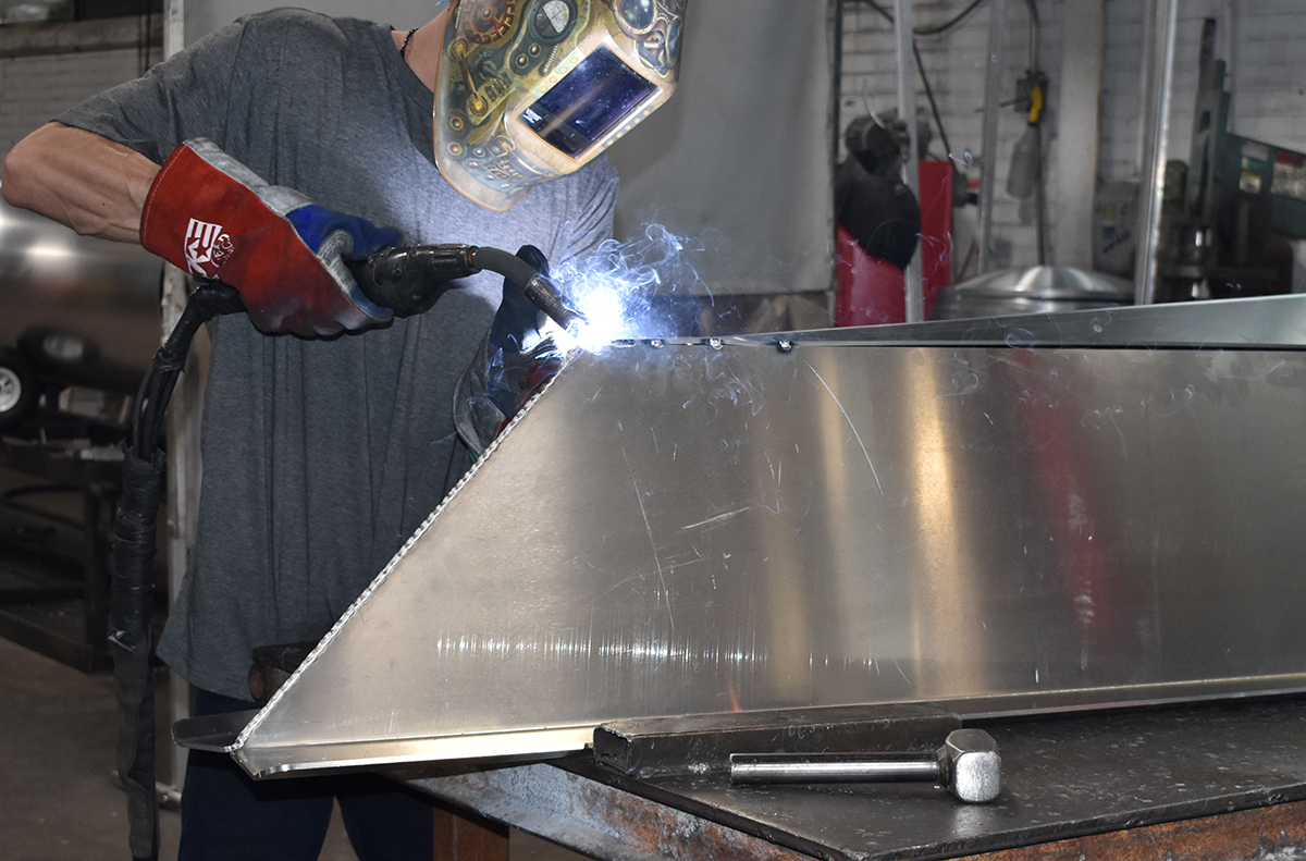 Bentley associate welding transom.